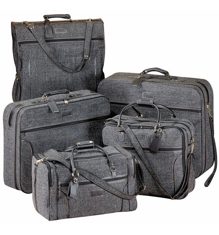 Grey Tweed Luggage Set