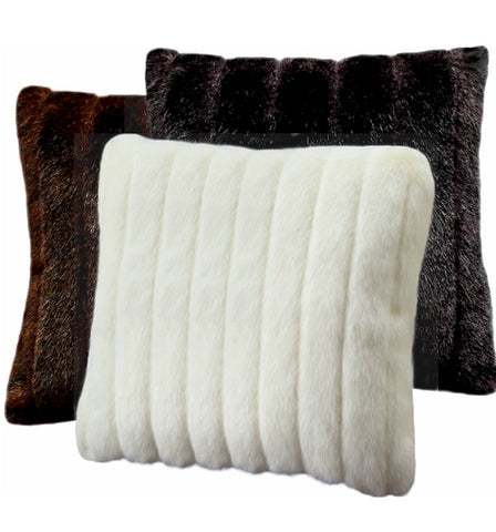 Faux Mink Toss Pillow