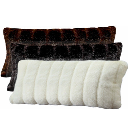 Large Oblong Faux Fur Pillow