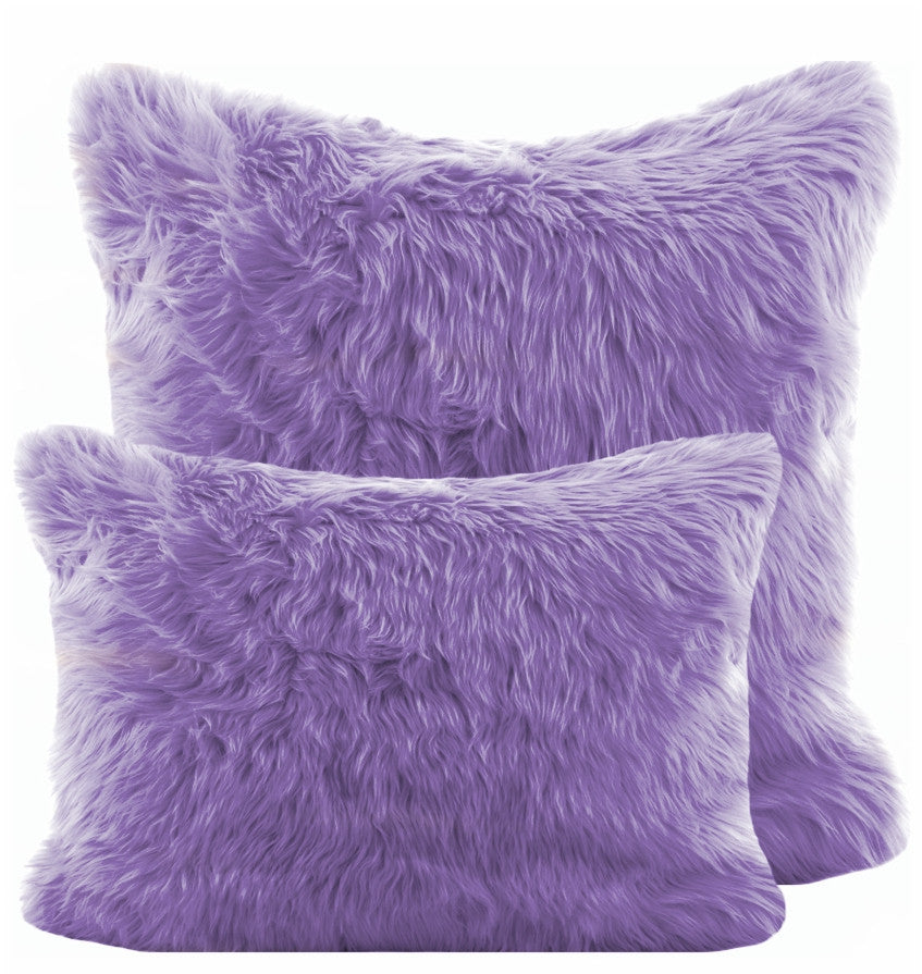 Lavender Shag Pillow