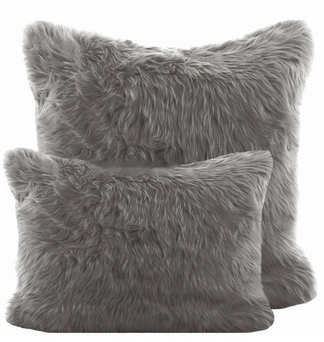 Grey Shag Pillow