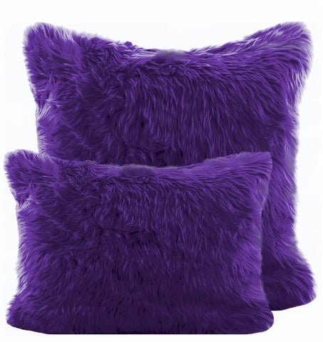 Purple Shag Pillow