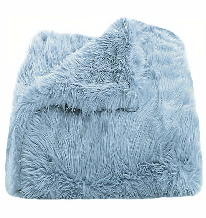 Baby Blue Shag Throw