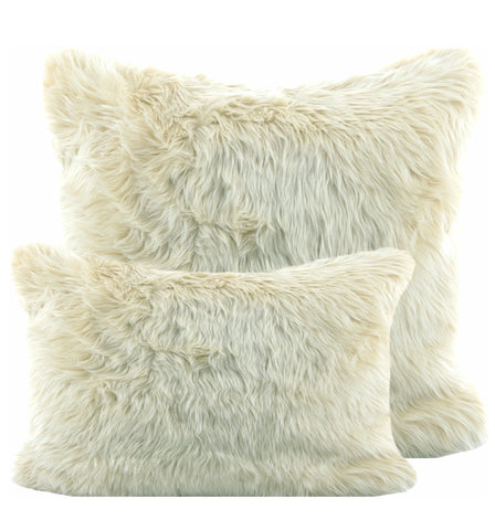 Off White Shag Pillow