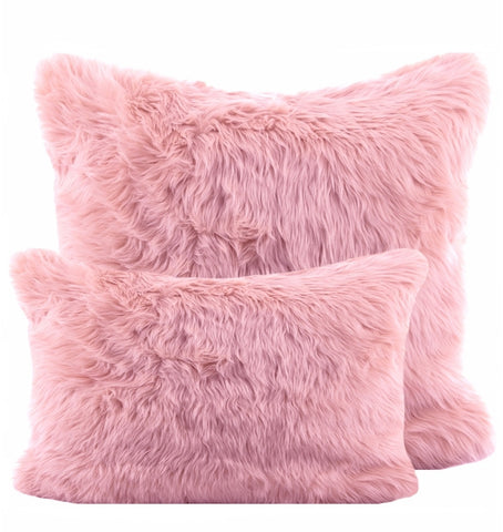 Pink Shag Pillow
