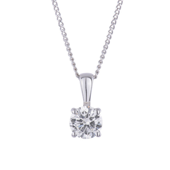 18ct White Gold .25pts Diamond Pendant & Chain