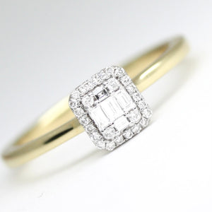 18ct Yellow Gold .15pts Diamond Cluster Ring