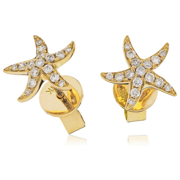 18ct Gold .18pts Diamond Studs