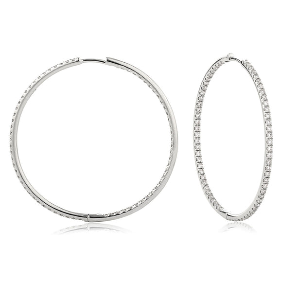 18ct White Gold 1.55ct Diamond Hoops