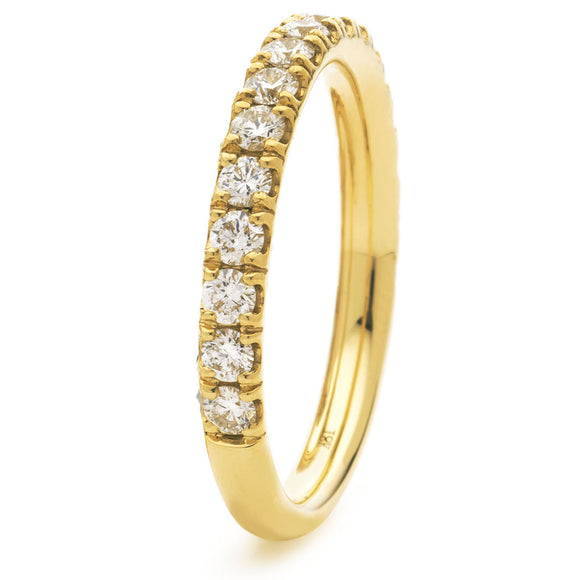 18ct Gold Diamond .65pts Eternity Ring