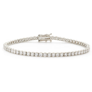 18ct White Gold 2ct Diamond Tennis Bracelet