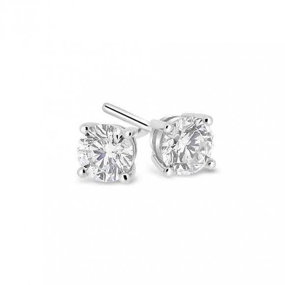 18ct White Gold .40pts Diamond Studs