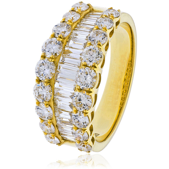 18ct Gold Fancy 2.20ct Diamond Ring