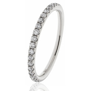 18ct White Diamond .60pts Eternity Ring