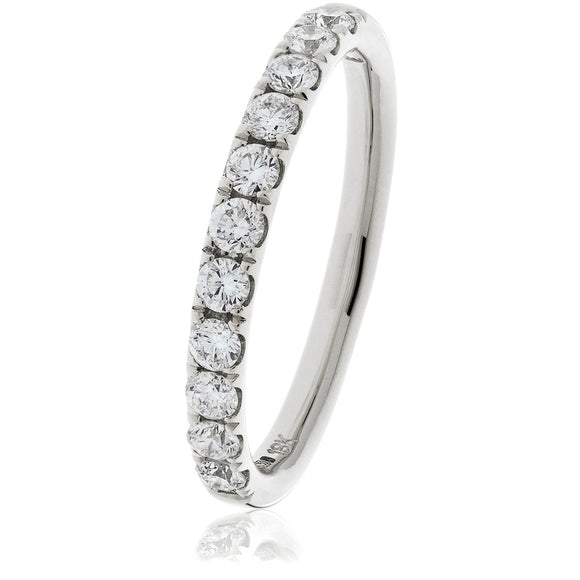 18ct White Diamond .75pts Eternity Ring