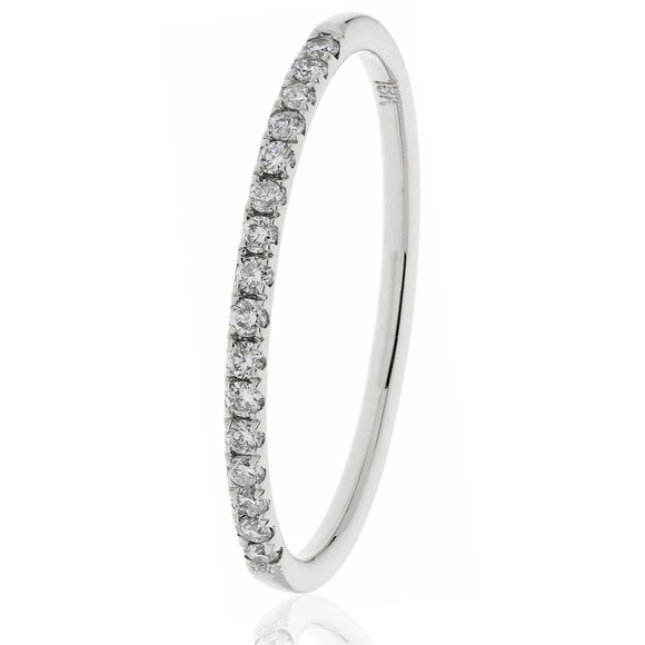18ct White Diamond .20pts Eternity Ring