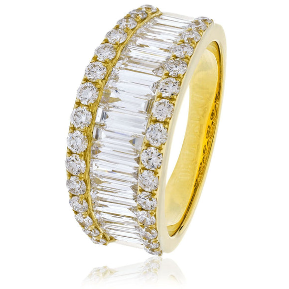 18ct Gold Fancy 2ct Diamond Ring