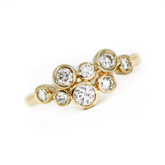 18ct Gold Bubble .54pts Diamond Ring