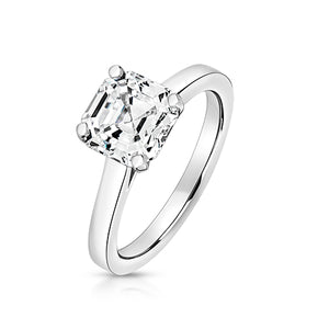 Lapidary Silver Solitaire Ring