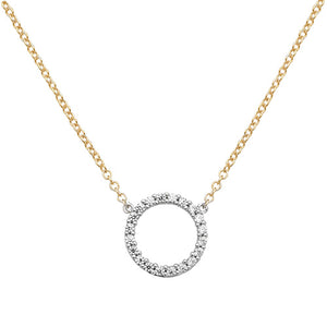 9ct Yellow Gold Cubic Zirconia Circle of Life Necklet