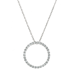 9ct White Gold Diamond Circle of Life - PROMOTION