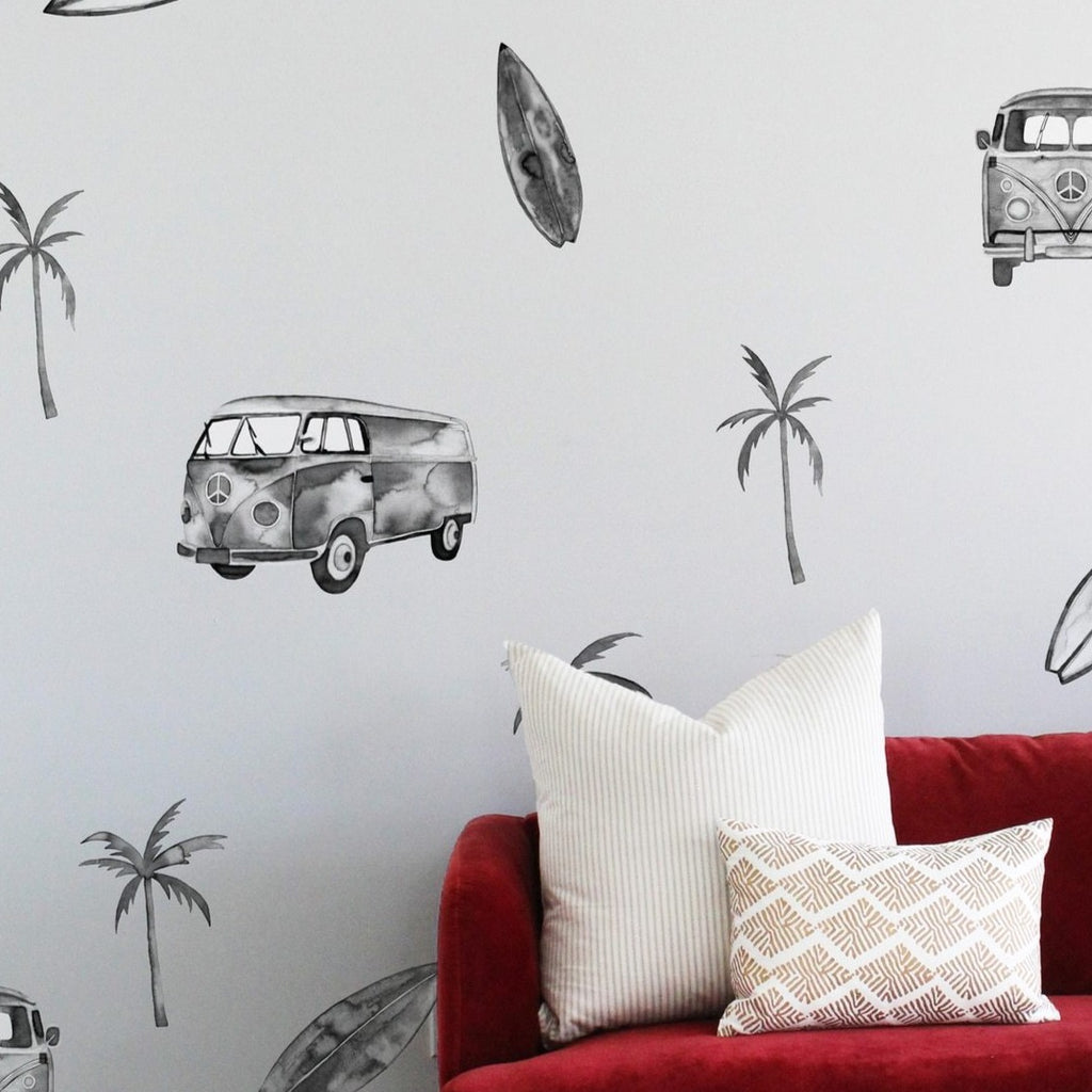Sunnyside Van Watercolour Wall Decals