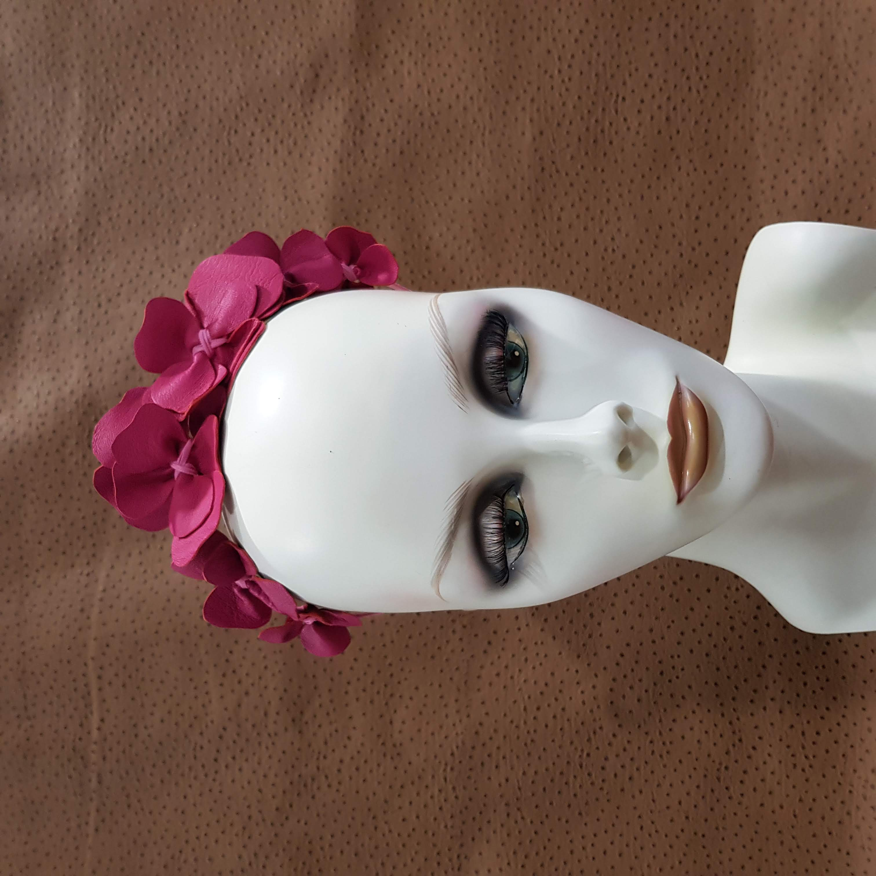 Pink Asymmetrical Annette Fascinator