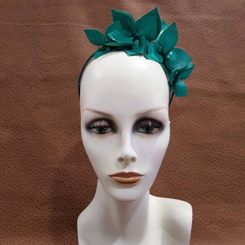 Asymmetrical Jade Joanne Fascinator