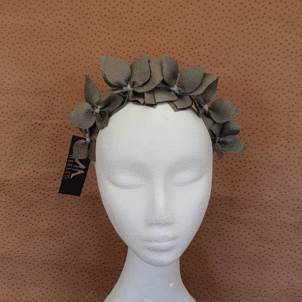 Pewter Joanne Fascinator