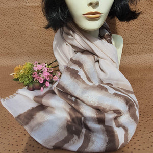 Neutral Brown and Cream Scarf