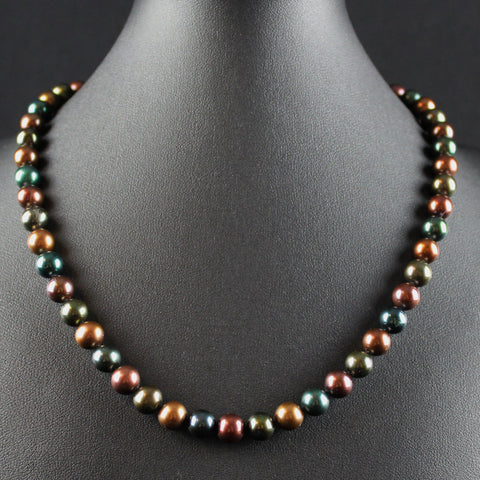 South Sea Bronze & Green Pearl Necklace