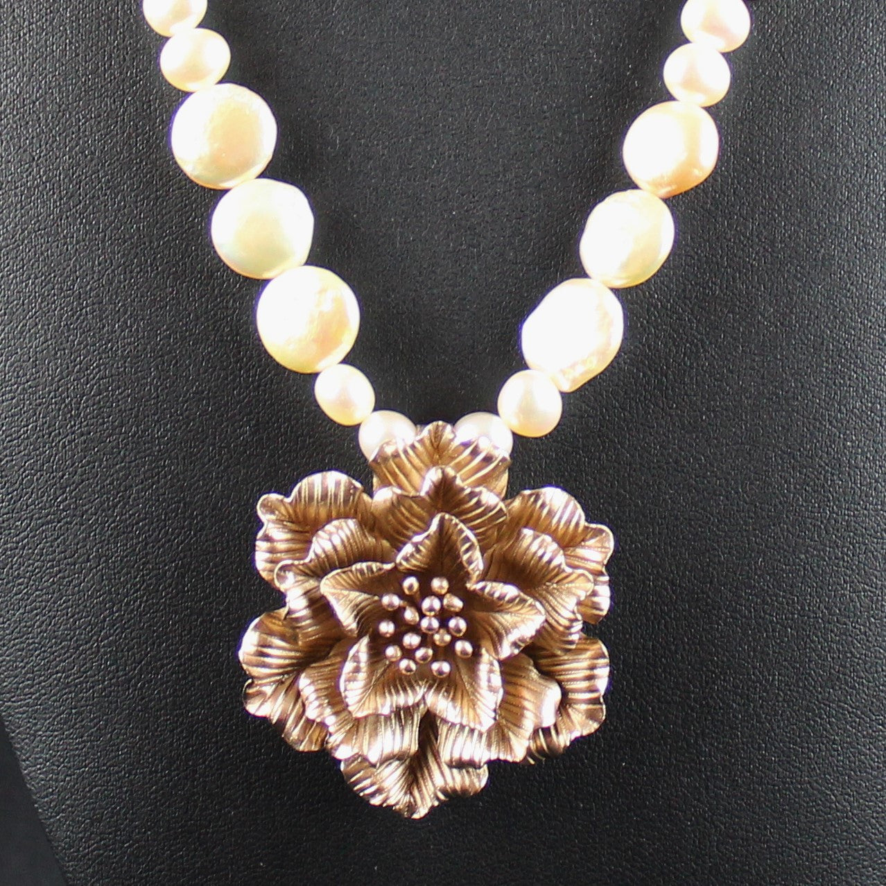 Susan M - Apricot Pearl Necklace