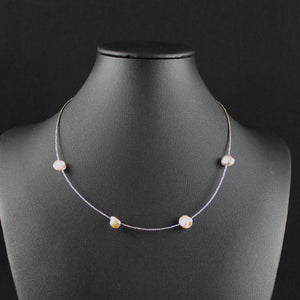 Susan M - Keishi Pearl & Silver Necklace