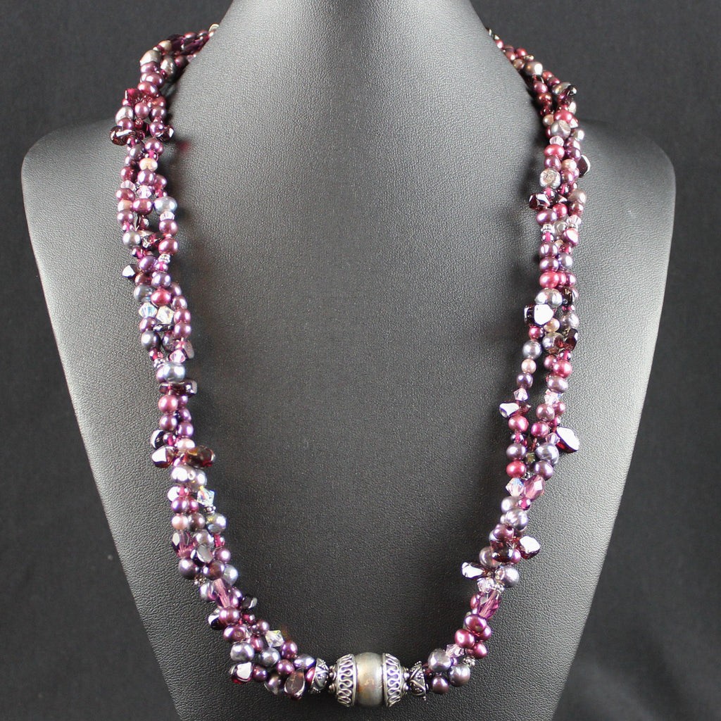Susan M - Triple strand Pearl Necklace