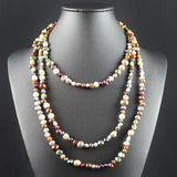 Susan M - Multi-Colour Freshwater Pearl Necklace