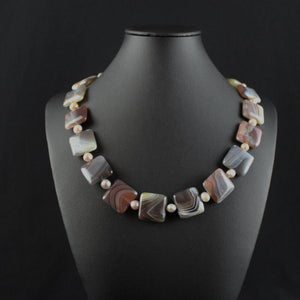 Susan M - Botswana Agate Necklace