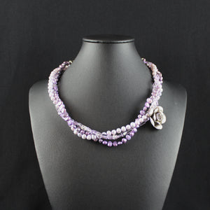 Susan M - Triple Strand Lavender Necklace
