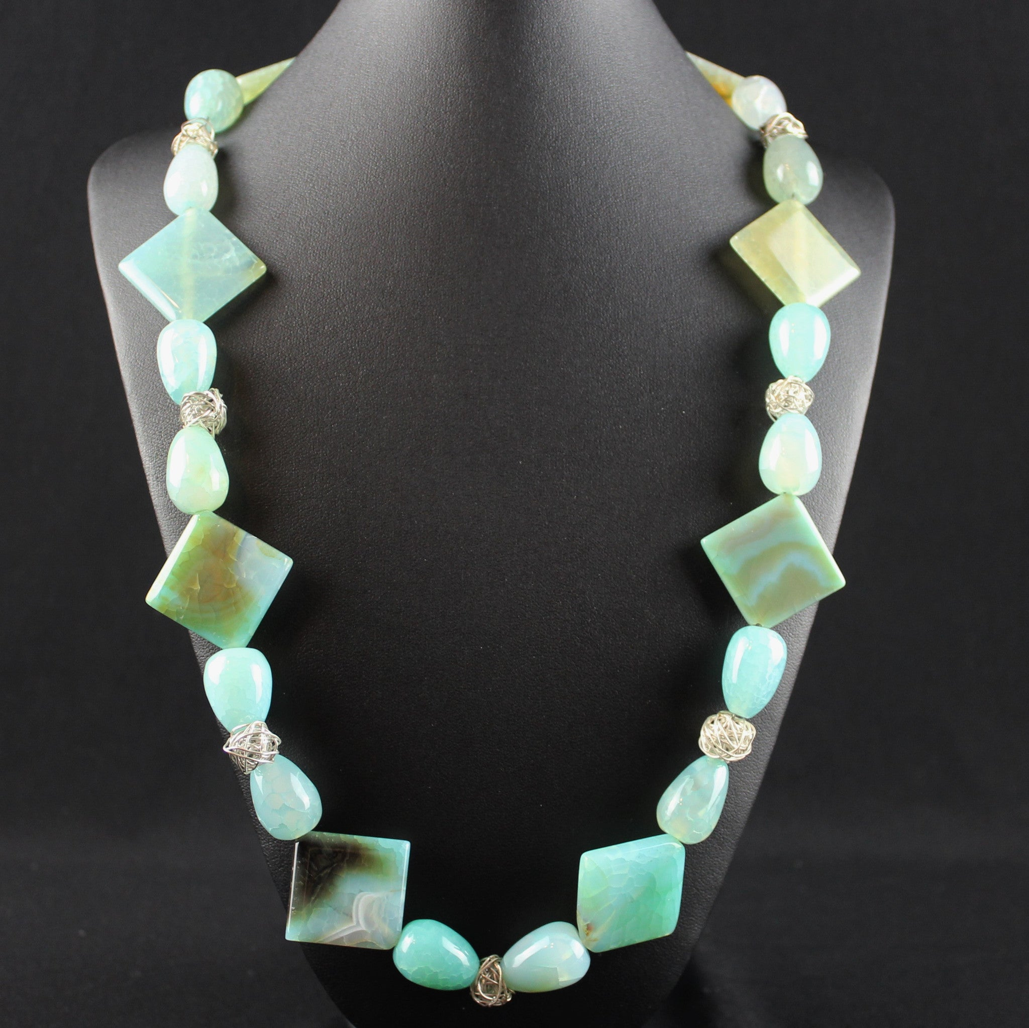 Susan M - Amazonite & Thai Silver Necklace