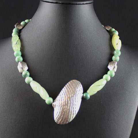 Susan M - Jade & Thai Silver Necklace