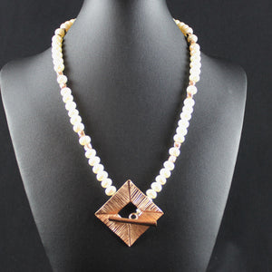 Susan M - Rose Gold & Pearl Necklace