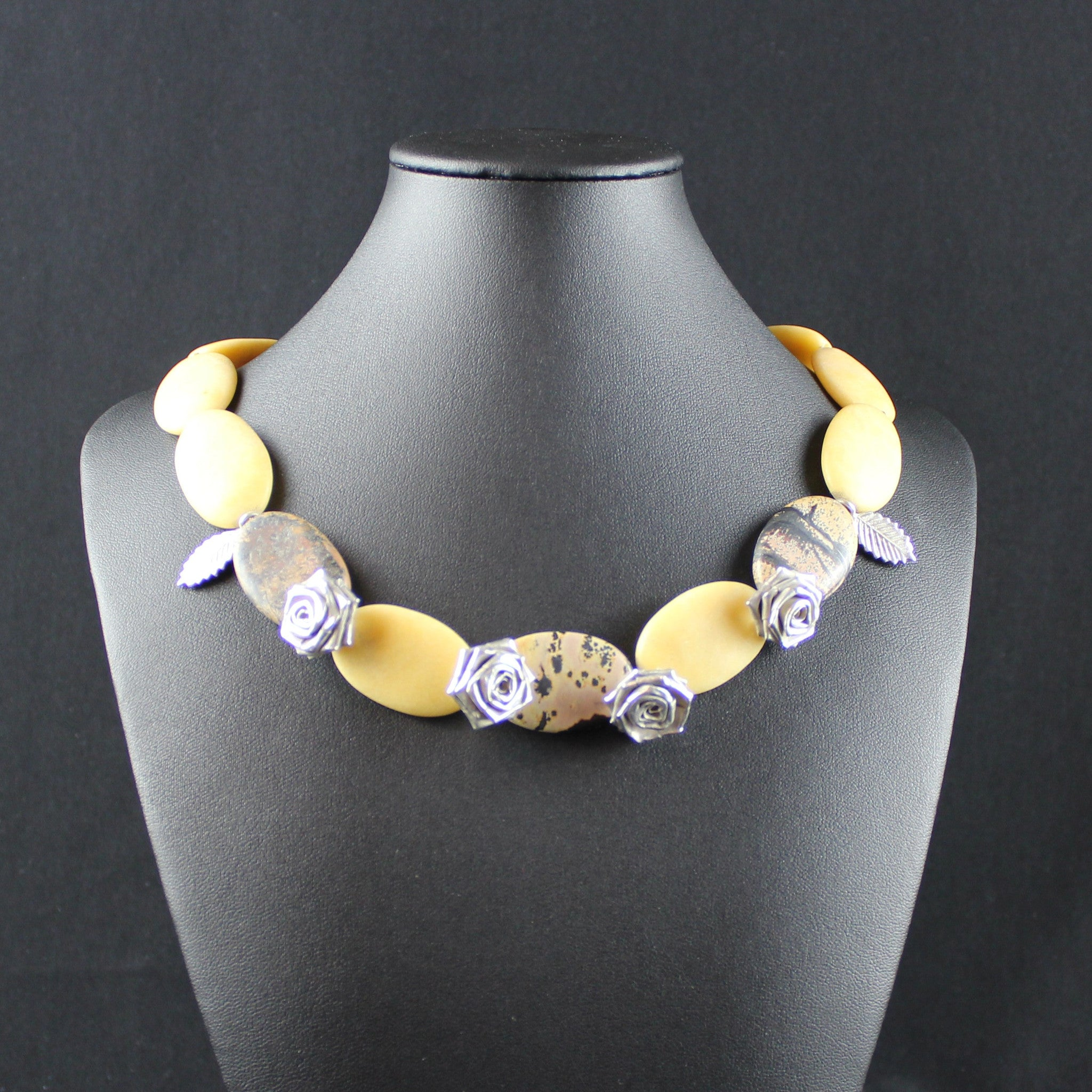 Susan M - Jasper & Thai Silver Necklace