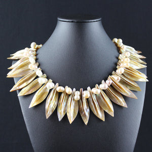 Susan M - Mother of Pearl and Double Pearl Necklace