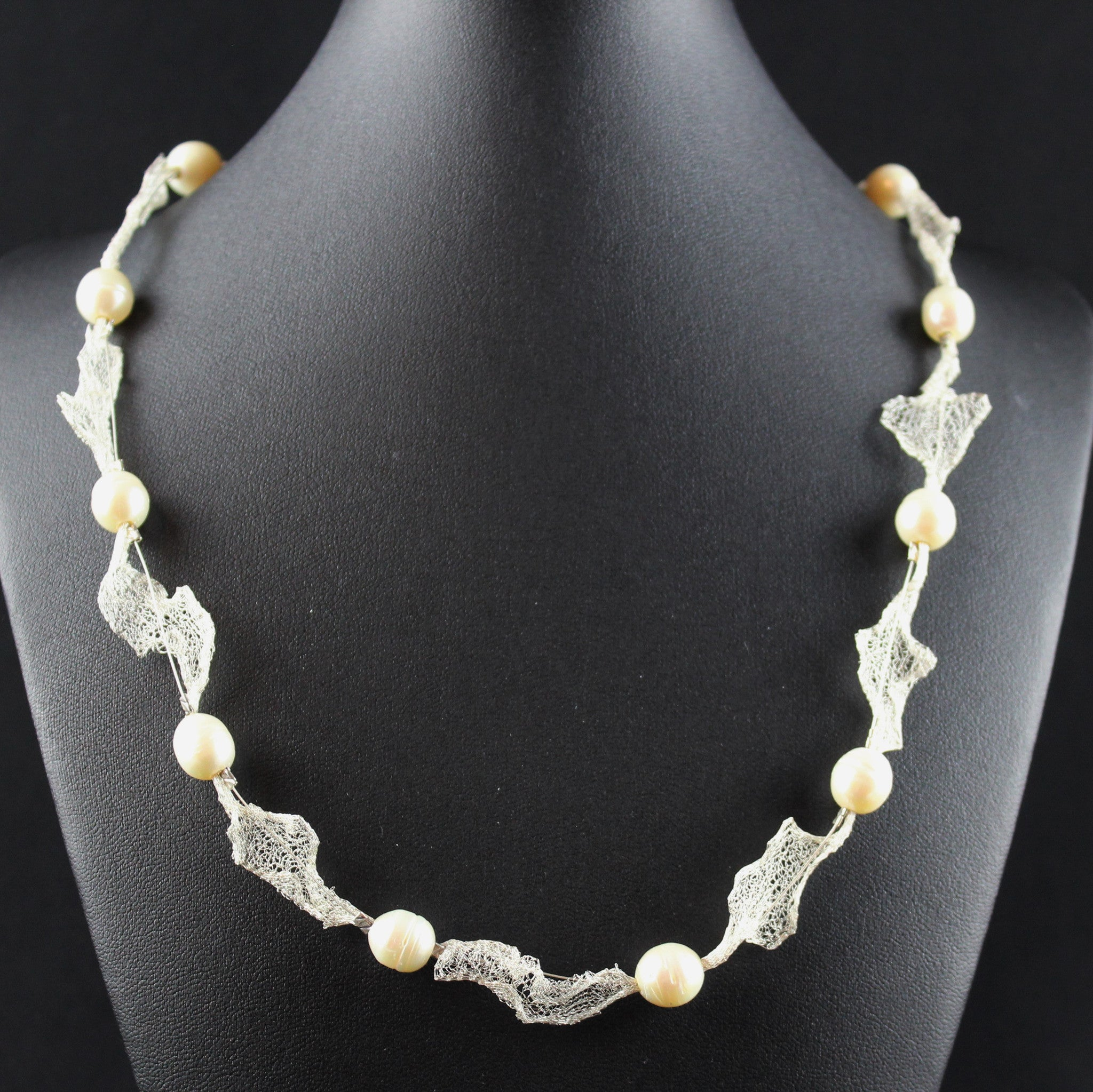 Susan M - Pearl & Mesh Necklace
