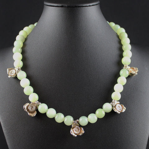 Susan M - Green Chalcedony Necklace