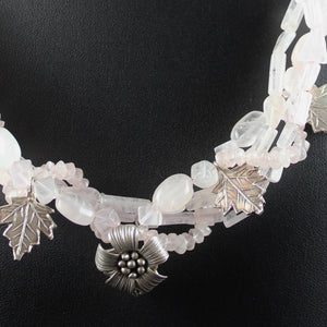 Susan M - Rose Quartz Multi-Strand Necklace
