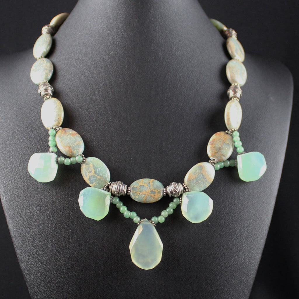 Susan M - Agate & Chalcedony Necklace
