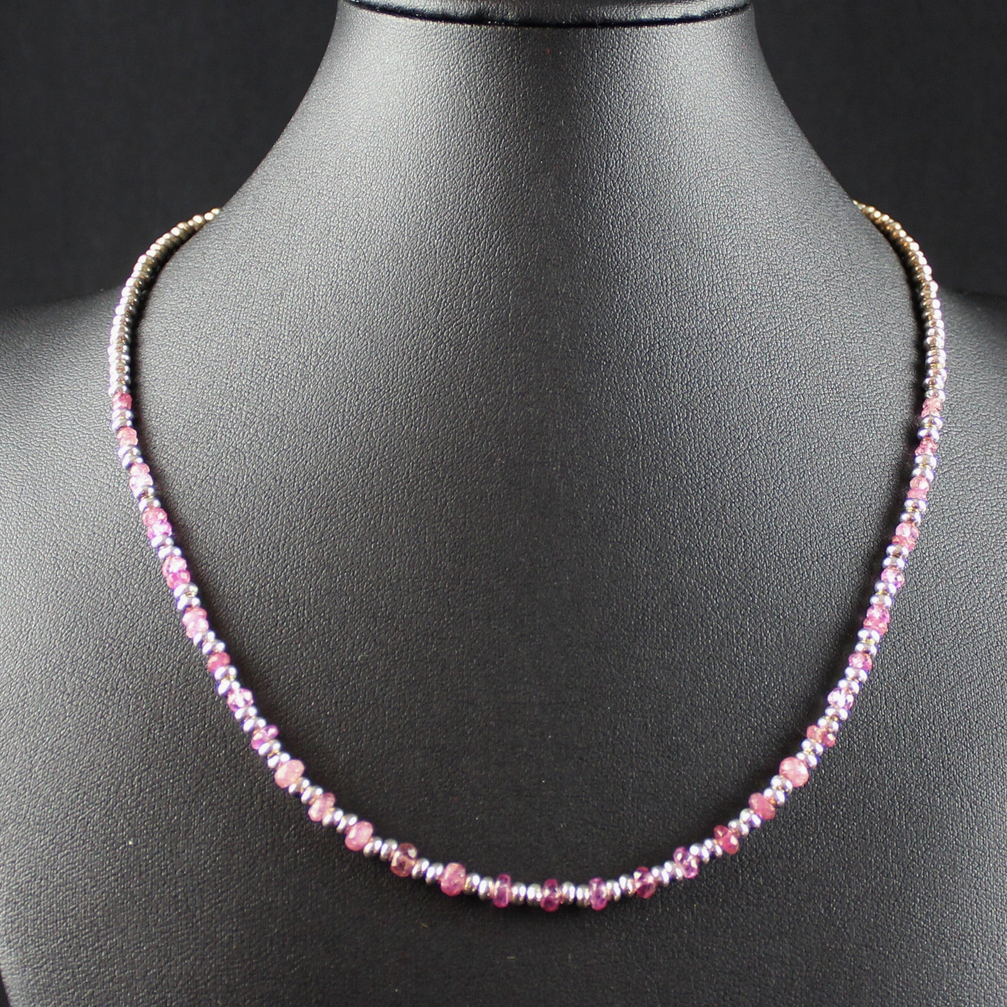 Susan M - Faceted Pink Tourmaline Necklace
