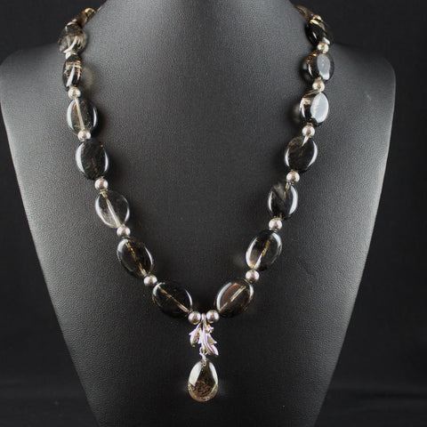 Susan M - Black Matrix Quartz Necklace
