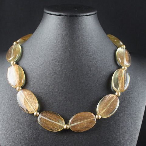 Susan M - Golden Quartz Necklace