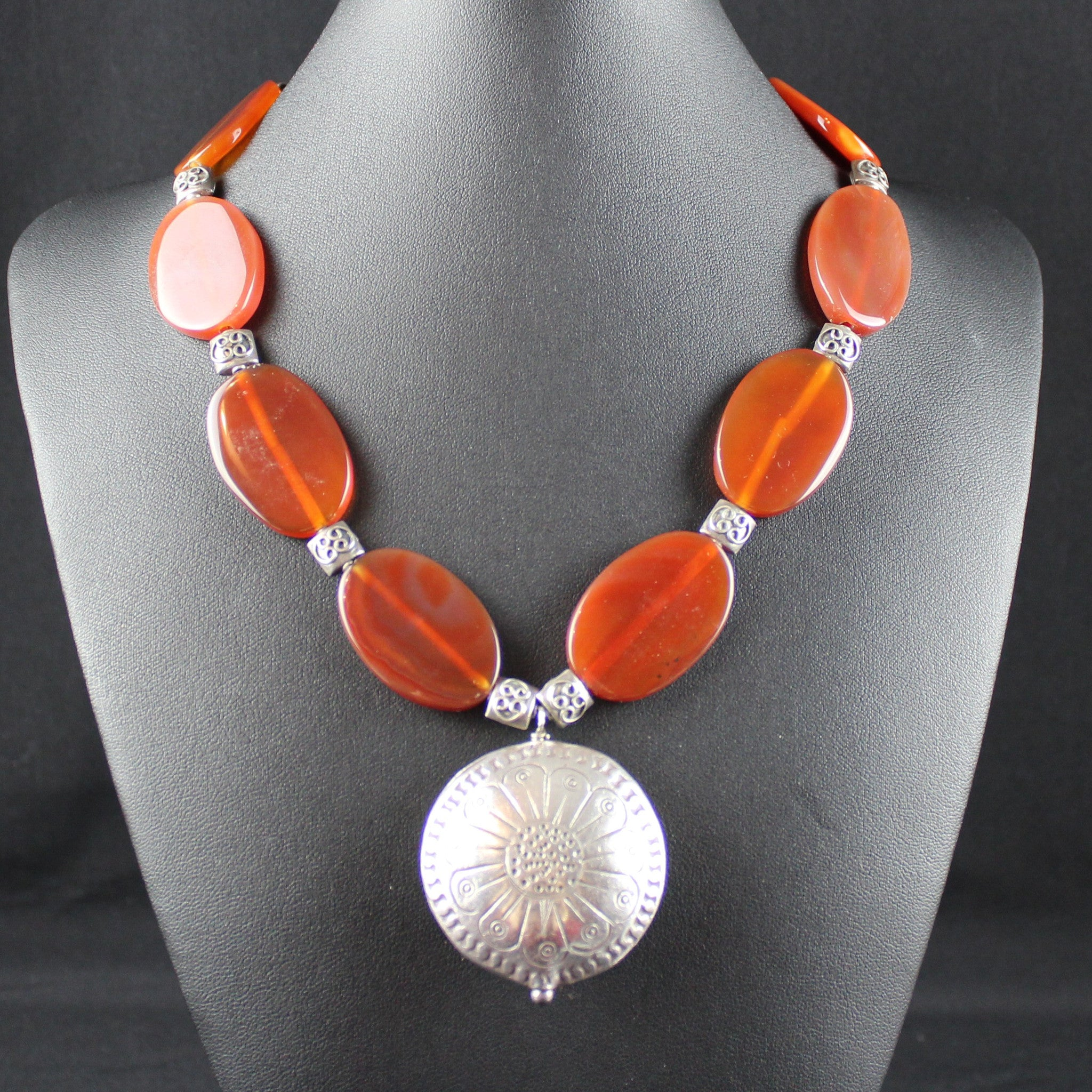 Susan M - Carnelian & Silver Necklace